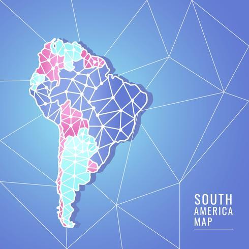 Vecteur de carte moderne Amérique du Sud