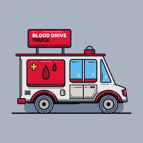 Blood Drive Truck Vector