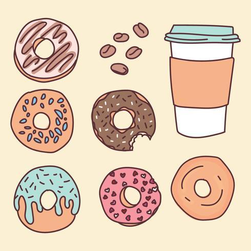 Coffee Shop Food Doodles