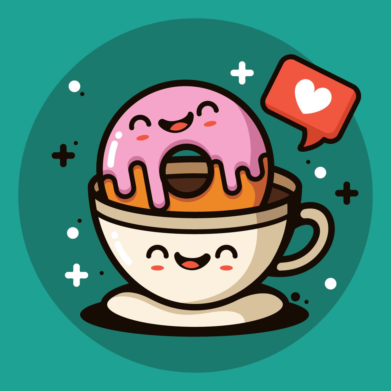 Donuts Illustration - Download Free Vectors, Clipart ...