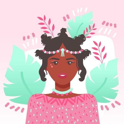 Vecteur de femmes de couleur