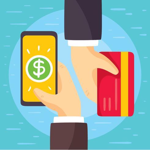 Vetor de conceito de pagamento móvel