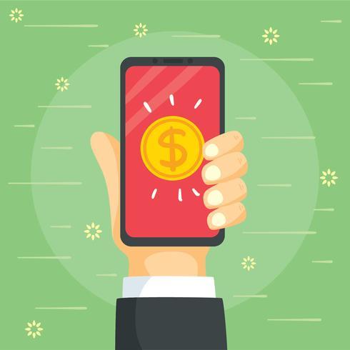 Online-Mobile-Zahlung Vektor