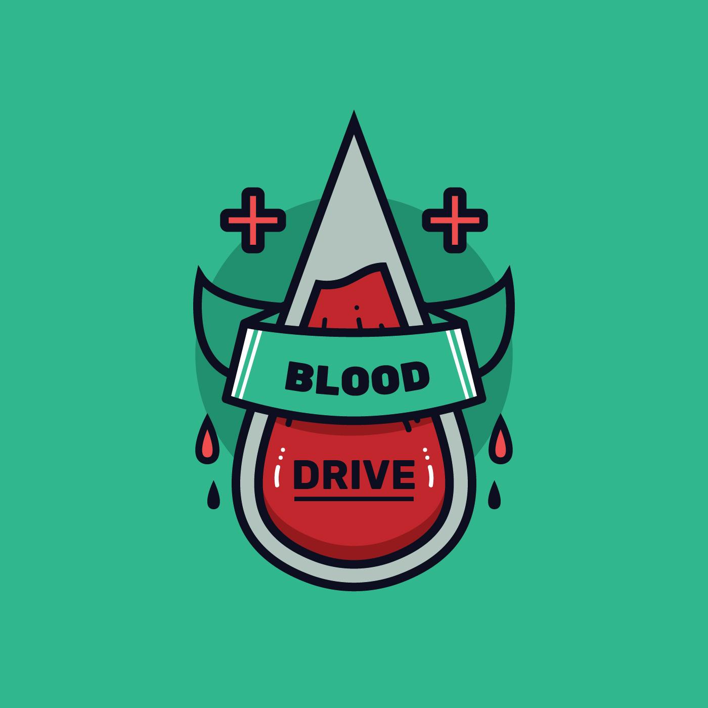Blood Drive Badge Vector