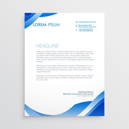 Abstract blue business letterhead template download free vector abstract blue business letterhead template friedricerecipe Images