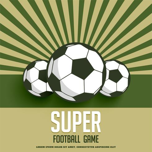 retro style football game background