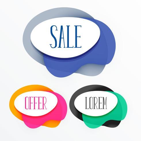 abstracte kleurrijke verkoop tags banner