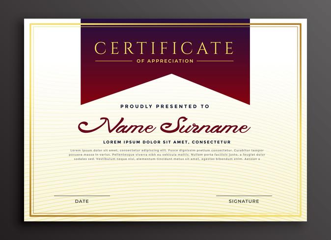 certificate of appreciation business template