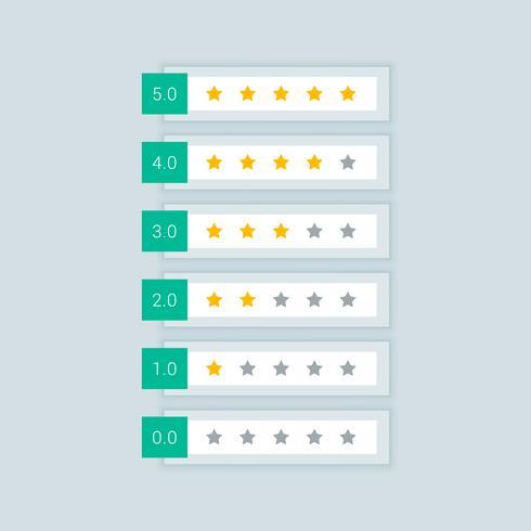 minimal star rating symbol icons