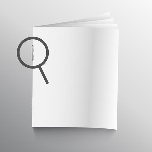 book or magazine mockup with staple pin