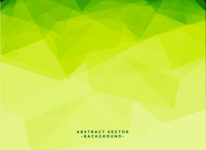 green triangle low poly geometric background with copyspace