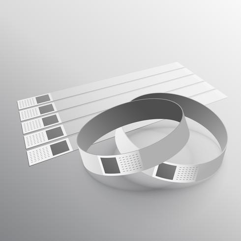 Plantilla de maqueta de pulsera de mano