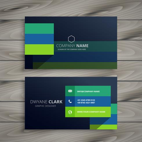 modern dark professional business card design