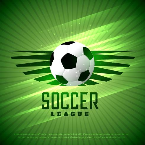 soccer league flyer design sports background