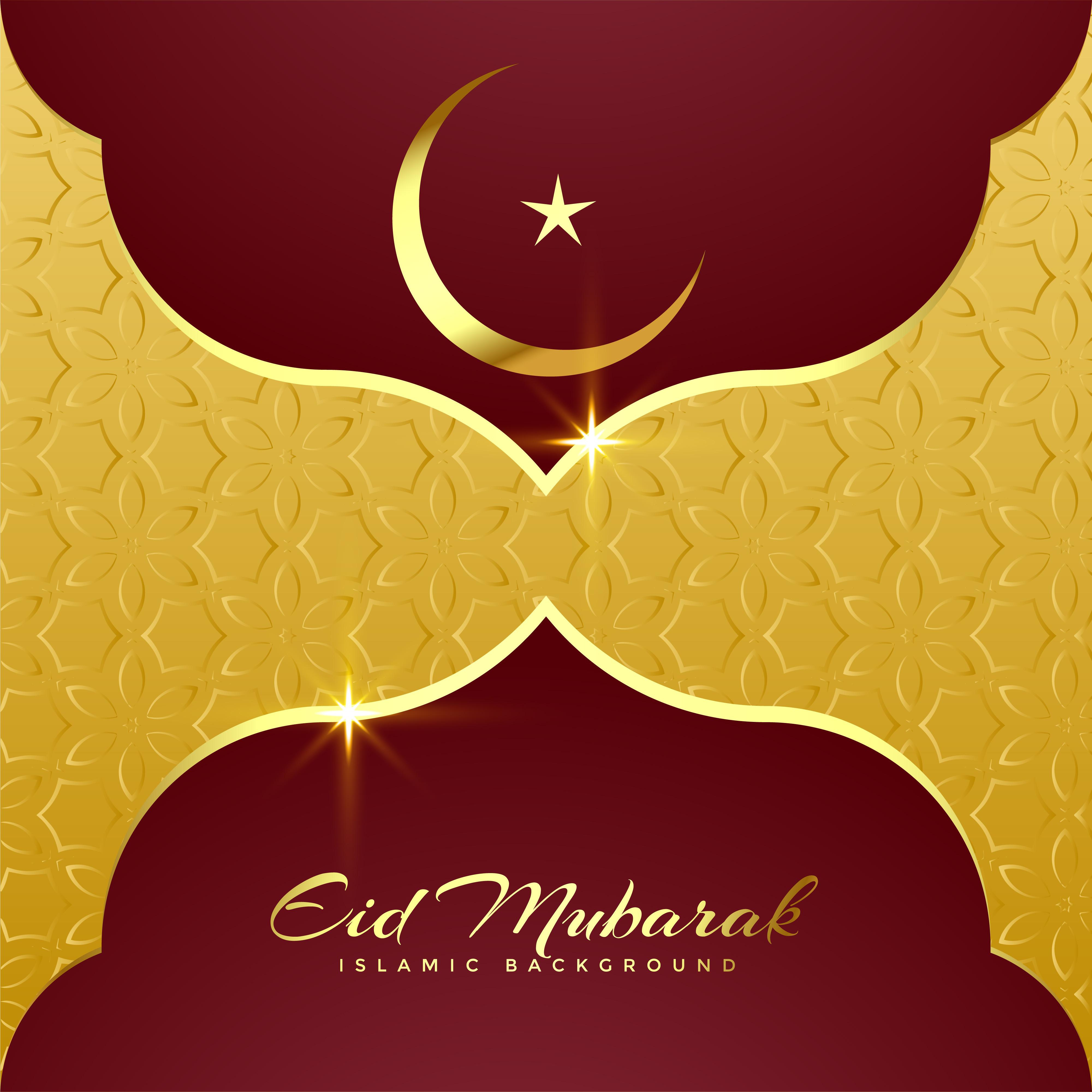 Premium Eid Mubarak Greeting Card Design Download Free Vector Art
