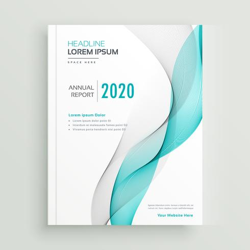 professional business brochure or book cover design template