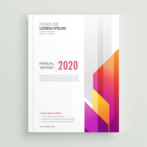 diseño de folleto de negocios colorido moderno
