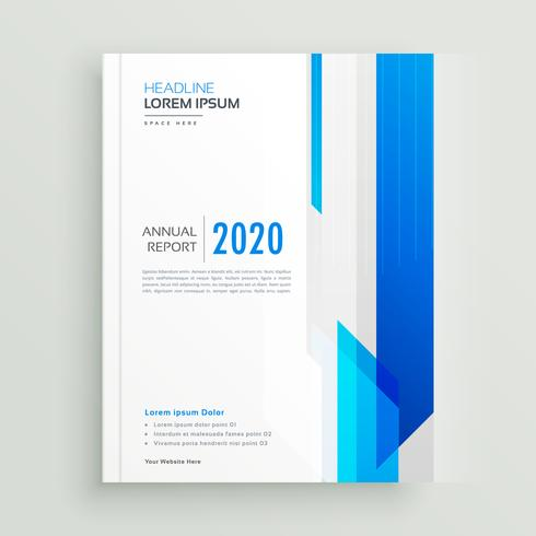 blue professional business brochure design