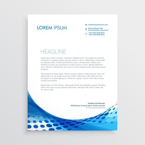 abstract blue modern letterhead design