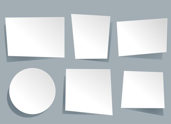 six bannières vides géométriques de papier