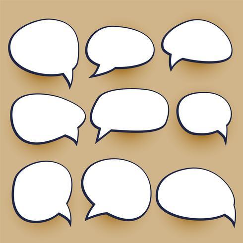 comic chat bubbles elements set