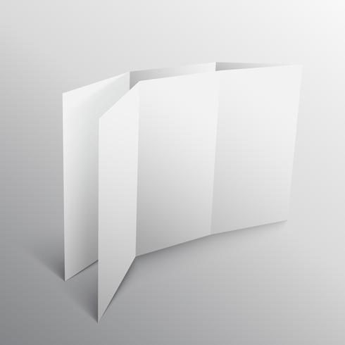 3d paper fold mockup template