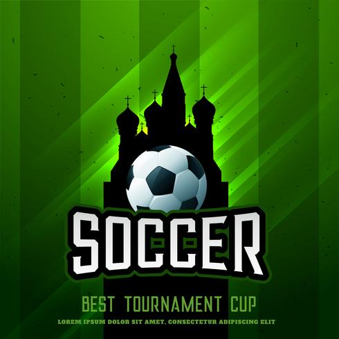 russia football tournament cup shiny background