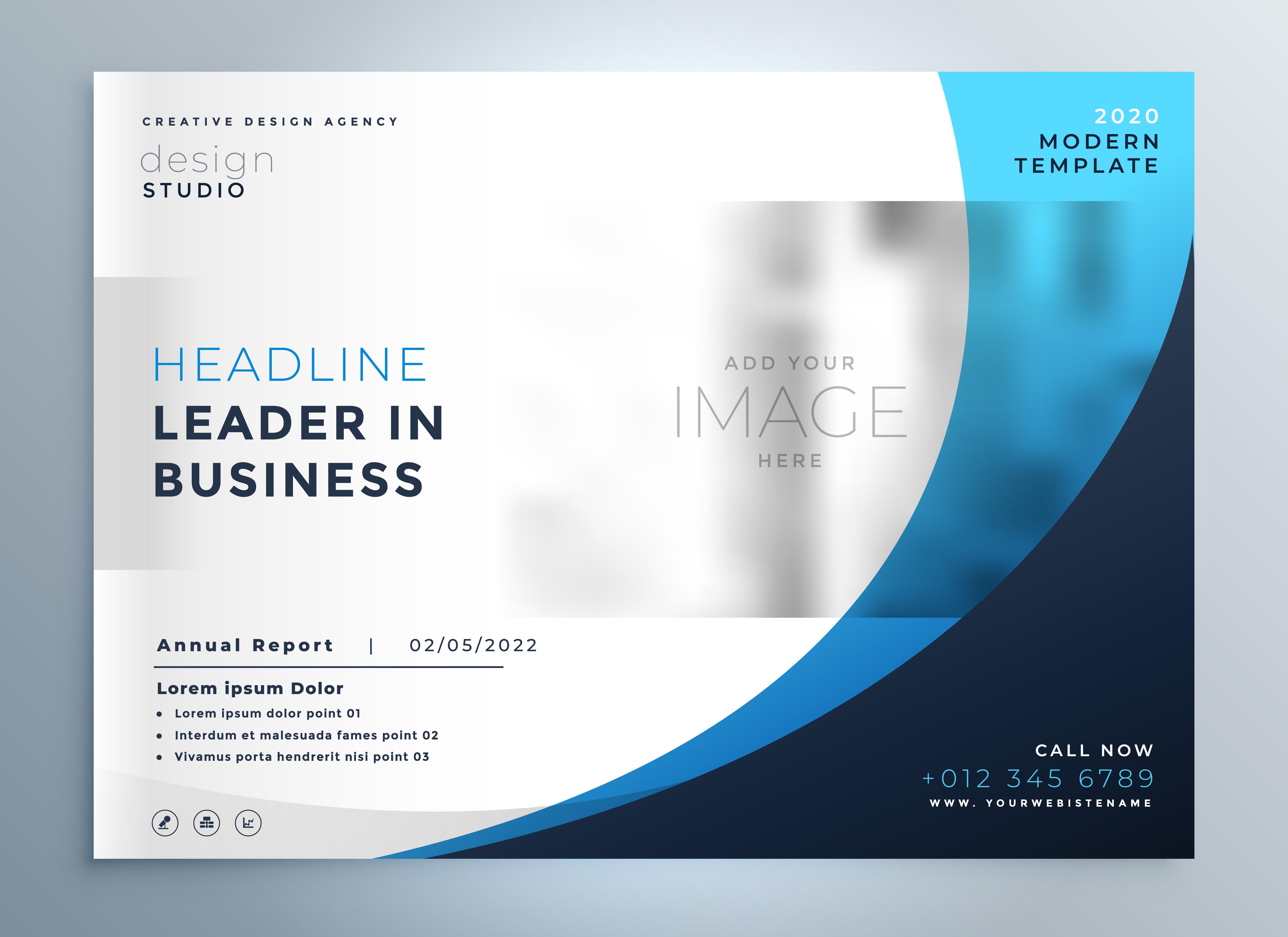professional blue business brochure template design