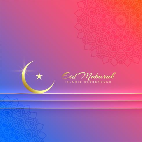 schöner eid Mubarak bunter Festivalhintergrund