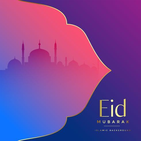 islamic eid mubarak festival greeting