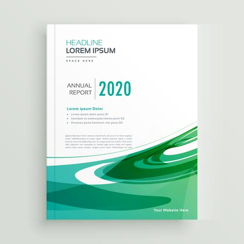 abstract annual report business brochure flyer design
