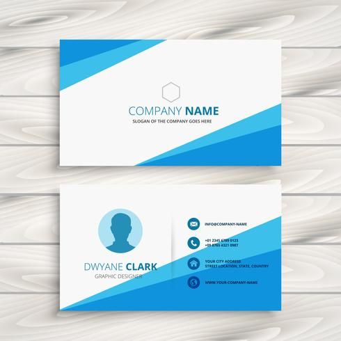 modern blue company business card