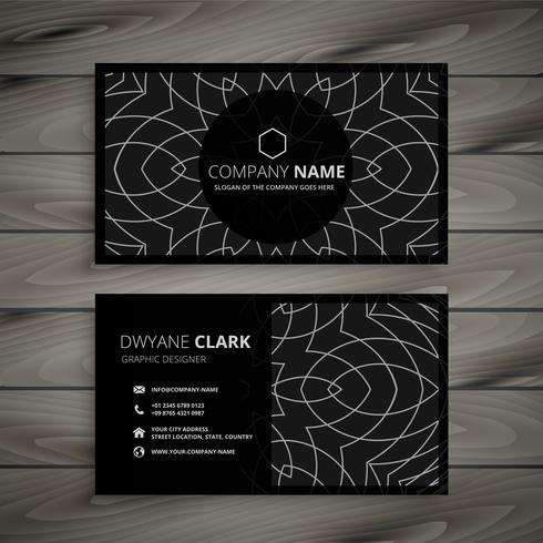 black professional business card design template
