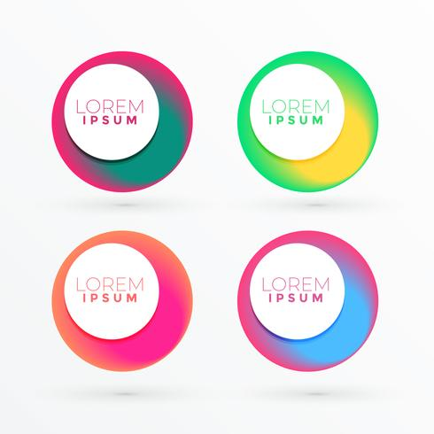 colorful circle abstract banner with text space