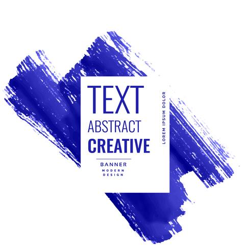 indigo blue brush stroke banner with copyspace