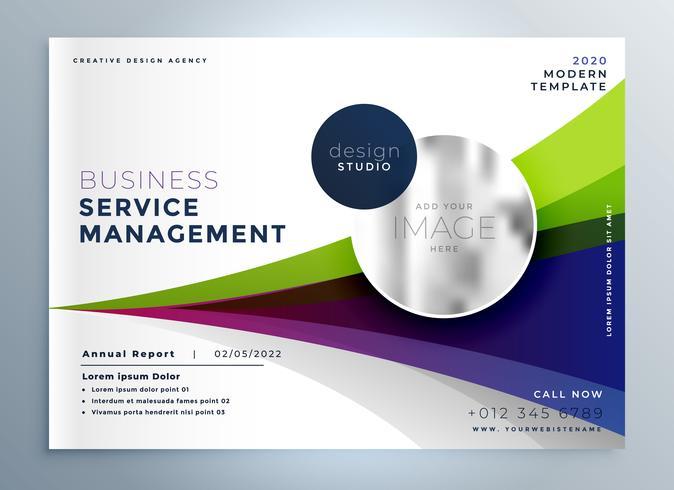 Präsentationsvorlage für kreative Geschäftsbroschüren-Flyer