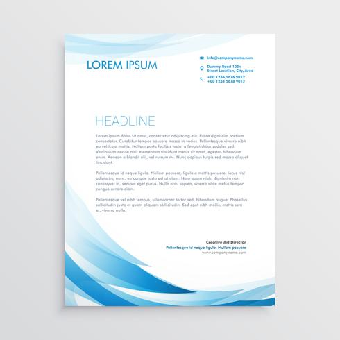 abstract blue letterhead vector design