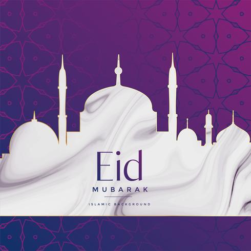 Eid Festival Moschee Design Hintergrund