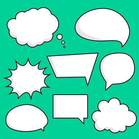 comic chat bubbles sticker set