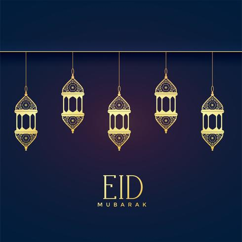 elegant hanging lanterns for eid festival