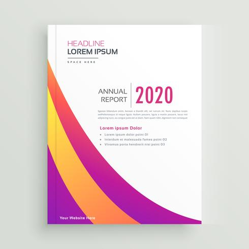 trendy colorful brochure annual report template download free