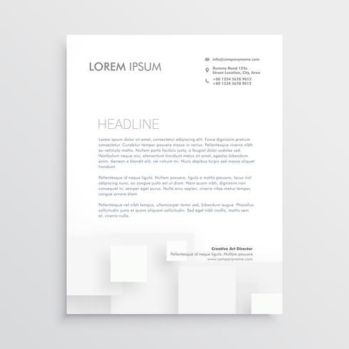 minimal white letterhead design template