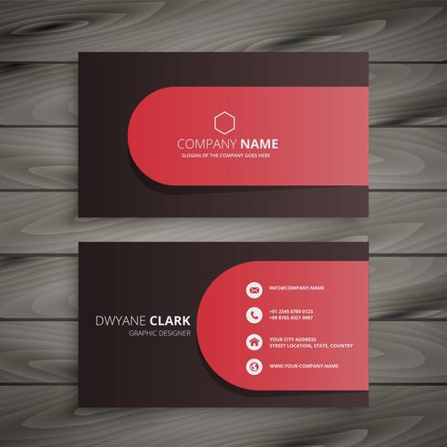 clean professional business card design