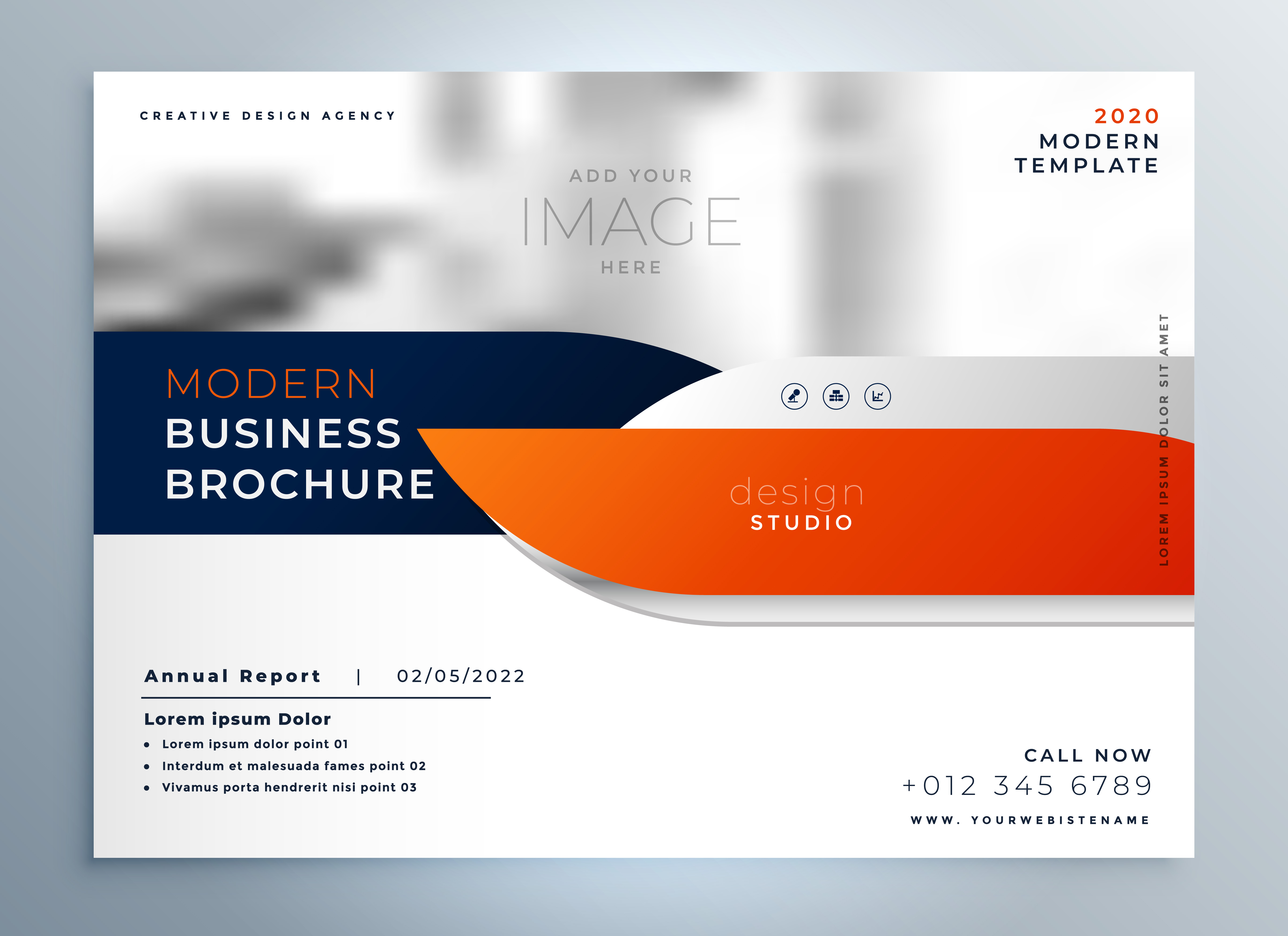 professional modern brochure magazine cover template