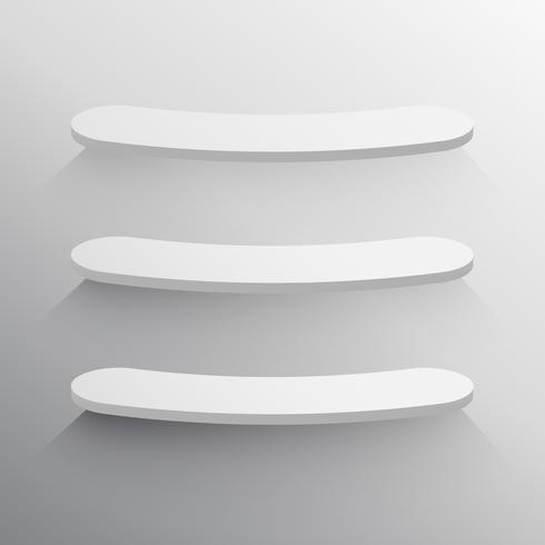 3d shelves mockup design template