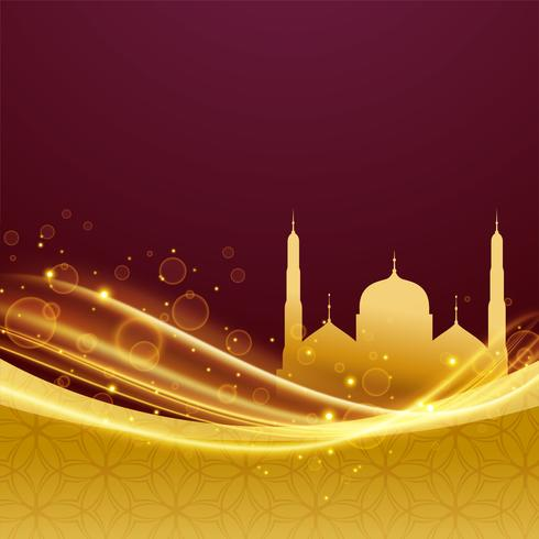 golden premium eid and ramadan festival design with light effect
