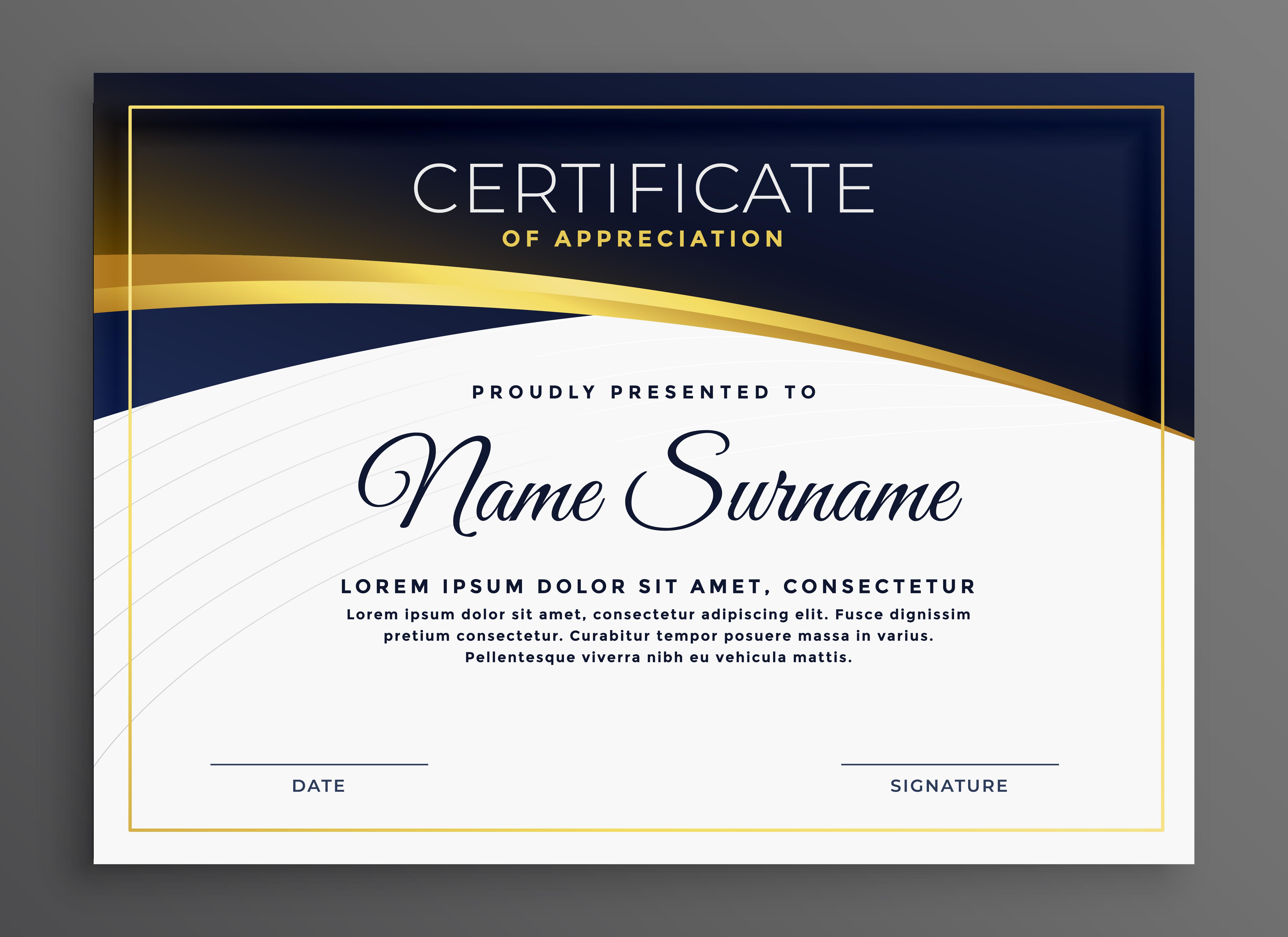 stylish modern diploma certificate design