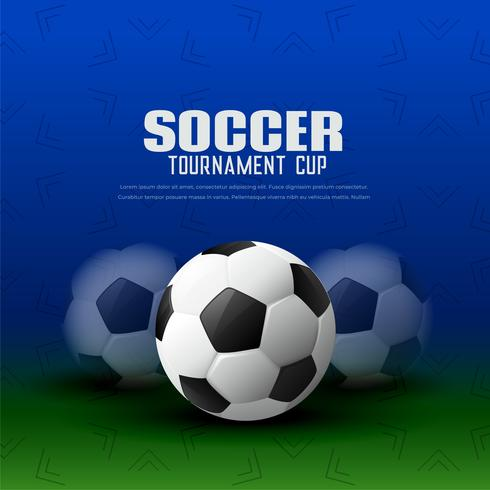 soccer tournament background with football design