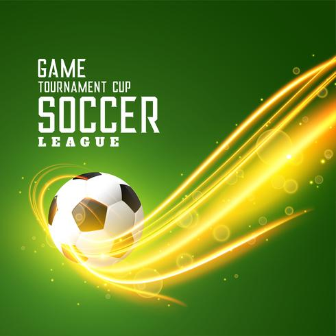 abstract shiny football background with light effect