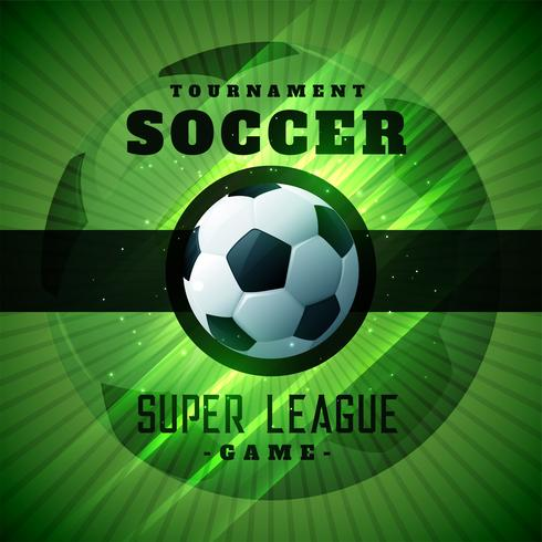 green soccer tournament championshio background